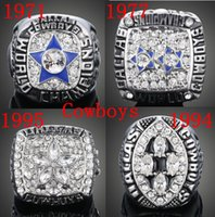 Wholesale TOP quality Dallas Cowboys Super Bowl Championship Ring six together solid gold and silver drop shipping