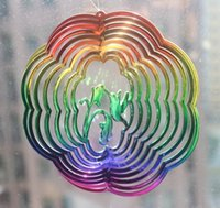 Wholesale hyper splash wind spinner D garden suncatcher butterfly bee dragonfly wind twister gyroscope to refract sunshine