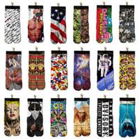 Wholesale DHL UPS d socks kids women men hip hop socks d odd socks cotton skateboard socks printed gun emoji tiger skull socks Unisex socks