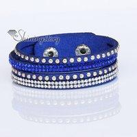 Wholesale crystal stardust bracelets star dustbracelets bling bling rhinestone bracelet punk style bolt rivet bracelets multi layer bracelets