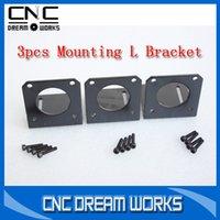 Wholesale 3pcs Stepper motor NEMA motor Mounting L Bracket Mount for nema23 Motor with sets mounting screws C002 D A2