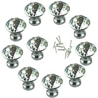 best cupboards - Hot Salw Best seller mm Diamond Shape Acrylic Clear Cabinet Cupboard Drawer Knob Pull Handle dz May03