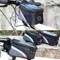 Wholesale 40pcs Bike Front Frame Pouch Bicycle Bag Cycling With Earphone Extension Cord L OS405
