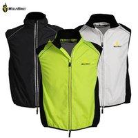 Wholesale WOLFBIKE Tour de France Cycling Sportswear Men Jerseys Cycle Clothing Windcoat Breathable Bike Jacket Sleeveless Vest COLORS