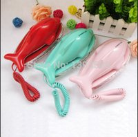 Wholesale free ship Fashion dolphin cute phone Creative telephones Fixed telephone Home landline for gift