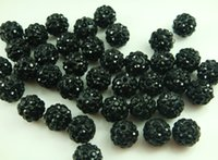 Wholesale Fashion accessories Handcrafted Disco clay CZ Zircon ball for Shambhala Crystal bead charm bead mm Black color