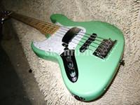 Precio de Guitarra de la mano izquierda verde-Venda al por mayor el envío libre de la alta calidad de las guitarras del bajo verde de 5 secuencias