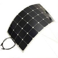 Wholesale 100W flexible solar panels for solar powered fishing boats with back side connection suit for V battery solar charger