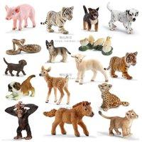 Wholesale Si Le wild farm simulation small animal model lion tiger leopard cognition deer sheep and horse dog pig cockatrice