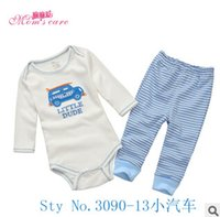 Wholesale Zoo Party baby girls boys clothing sets spring autumn cotton children s clothing cartoon boy and girl clothes rampers