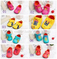 leather material - Soft Leather Infant First Walker Shoes Patchwork Lace Up Closure Baby Girls First Walker Shoes Genuine Leather Material xb17