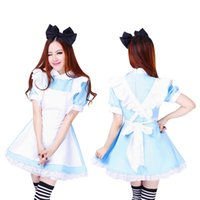 alice fancy dress - Halloween Maid Costumes Womens Adult Alice in Wonderland Costume Suit Maids Lolita Fancy Dress Cosplay Costume for Women Girl