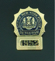 antique police lights - New York police badges
