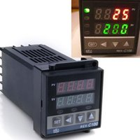 Wholesale PID Digital Temperature Control Controller Thermocouple to degree REX C100 Ship By Swiss post New High Quality SV001100