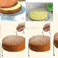 Wholesale Adjustable Kitchen Accessories Baking Tools Stainless Steel Wire Cake Slicer Level Leveler Slices Cutter Tool
