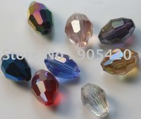 wholesale china beads - China jewelry rice grains glass crystal BEADS mixed AB beads spacer charms bead SJ86