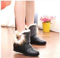 Wholesale Hot winter New fashion fox head women s boots snow boots warm