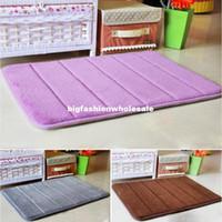 Wholesale 7 Colors Thickening Memory Foam Door Mat Absorbent Anti slip Mats Bath Mat Doormat Carpet ZH301