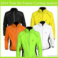 Wholesale Newest Tour De France Cycling Jackets Long Sleeve Ultra Breathable Wind Proof Warmer Road Bicycle Clothing S XL Different Colors For Choose