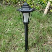 Chemin Lampe extérieure solaire de jardin Lumière LED Imperméable Green Power Lawn Party Paysage sol Éclairage solaire Lanterne Blanc / Jaune W1069