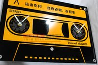 analog cassette - Cassette tapes watches and clocks quartz wall clock fashion creative arts bell childhood music cassettes in stock