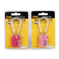 Wholesale TSA Resettable Digit Combination Travel Luggage Suitcase steel wire rope Lock Padlock The customs lock