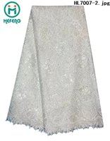 african fabric - 2015 New hight quanlity african swiss voile guipure french lace fabrics with stones for wedding HL7007