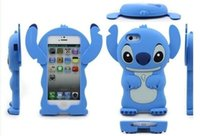 apple stitch - 3D Stitch case Fit D Cute Silicone Rubber Gel Cartoon Lilo for iphone plus iphone S iphone5 s Touch S3 S4 S5 Note Note US01