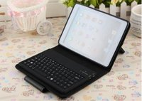 Wholesale Bluetooth Wireless Keyboard For iPad Mini Ipad Air Protective Slim Lined Leather Case For Ipad With Keyboard Built in Pieces Package