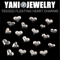 word charms - 20pcs Styles Mixed Heart Words charms Floating Heart Tagged Charms for Glass Locket