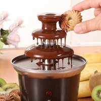 battery chocolate fountain - 1piece New Mini Chocolate Fountain Household Tier Chocolate Fondue Machine Choco Tree EU Standard