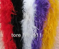 ostrich feather boas - 200CM length Ostrich Feather Strip Wedding party Marabou Feather Boa DIY Stage Cosplay Props Fashion Scarf Color to choose