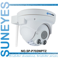 IR Night Vision 50M zoom ip camera - SunEyes SP P702WPTZ P HD Wifi Wireless Dome IP Camera PTZ ONVIF Pan Tilt Zoom with Micro SD Slot Two Way Audio Port Array IR