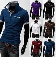 Wholesale Hot grid color matching POLO men s cultivate one s morality short sleeve POLO shirts men POLO shirt