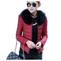 Cheap 2015 Warm Winter Jacket Women Slim Detachable Fur Collar Coat Ladies Parka Outwear Casual Overcoat Z41