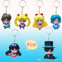 keychain animations stainless steels - Sailor generation girl animation keychain around beautiful girl with eyes closed version B paragraph keychain hand model