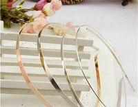 best hair metal bands - 5MM Wedding Hair Band hairwear hairhoop female Sliver Headbands Accessories Metal DIY Bluk In best price and high quality