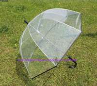 Wholesale 20pcs Apollo fashion pretty clear umbrella transparent colorful trim Dome shape colors free DHL ship