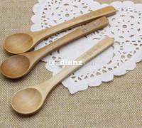 Wholesale Fashion Hot Japanese Korean Tableware Handle Coffee Wooden Spoon Honey spoon baby Feeding