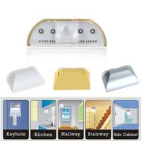 door emergency - Auto PIR Door Keyhole Motion Sensor Detector LED Light Lamp Silver For AA battery Leds Led Sensor Motion Lamp NightLight H9987