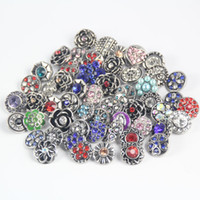 Wholesale Mix Designs NOOSA Snap Button mm mm Shiny Crystal Rhinestone Chunk Buttons DIY For Bracelet Necklace Fine Jewelry J795