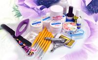 acrylic nails polishers - Professional Nail Art Kit Full Set Acrylic Manicure UV Gel DIY Sparkle Tips Polisher Brushes