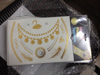 flashing christmas jewelry - 21x15cm Gold temporary tattoos Silver and Black Flash Inspired metallic tattoo jewelry Christmas Gifts for arm shoulder