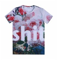 Cheap [Mikeal] Big letters FUCK and SHIT men women Spoof 3d t shirt Funny short sleeve Galaxy tshirt for men tops tees t-shirt A23