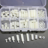 Wholesale M3 Nylon Hex Spacers Screw Nut Assortment Kit Stand off Plastic Accessories Set order lt no track