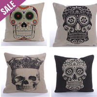 Wholesale 2PC New Fashion Cool Skeleton Cushion cover for home decorative pillows sofa decorative throw pillow cover