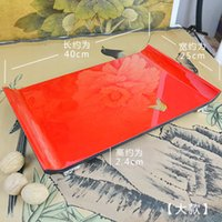 Wholesale chinese modern style lacquer pallet red wool teaberries multi layer decoration plate
