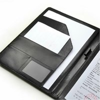 Wholesale Hot Sale A4 Zipped Conference Folder Business Faux Leather Document Organiser Portfolio order lt no track