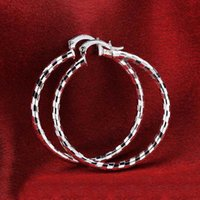 Wholesale Touch Fashion Brand Designer Big Circle Hoop Earrings Sterling Silver Earrings Jewelry for Women Men Hoop Earrings