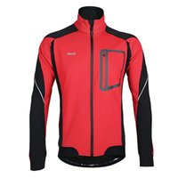 Wholesale Cycling Jackets Fleece Autumn Winter Models Cycling Jackets Sports Jerseys Men s Riding Breathable Reflective Long Sleeve Wind Coat M XL